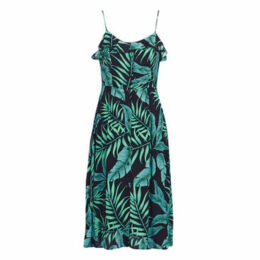 Pepe jeans  TULA  women's Long Dress in Green