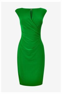 Womens Lauren Ralph Lauren Green Elkana Wrap Dress -  Green