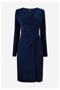 Womens Lauren Ralph Lauren Navy Casondra Dress -  Blue