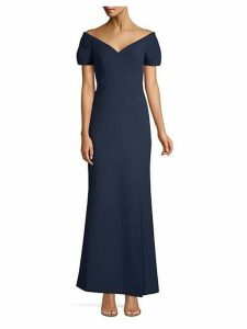 Off-The-Shoulder Stretch-Crepe Gown