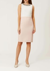 Iona Wrap Skirt Navy Ivory 18