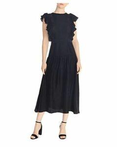 Sandro Agnesse Ruffled Acid Love Midi Dress