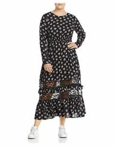 Lost Ink Plus Floral-Print Maxi Dress