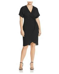 Lost Ink Plus Ribbed Short-Sleeve Dress