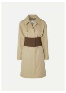 Burberry - Belted Cotton-gabardine Trench Coat - Beige
