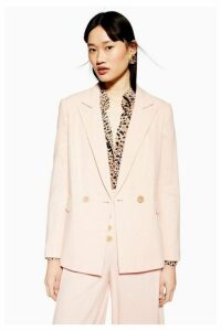 Womens Blazer With Linen - Blush, Blush
