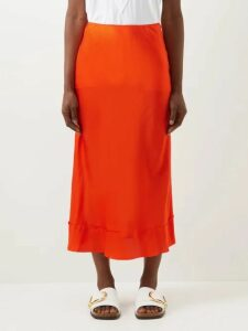 Three Graces London - Ninetta Inverted Dart Linen Maxi Dress - Womens - Yellow