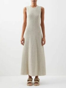 Le Sirenuse, Positano - Jane Diefenbach Print Cotton Midi Skirt - Womens - Red Print