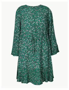 M&S Collection Floral Drawcord Relaxed Mini Dress