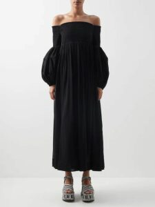 Katharine Hamnett London - Kath Tie Waist Cotton Dress - Womens - Navy