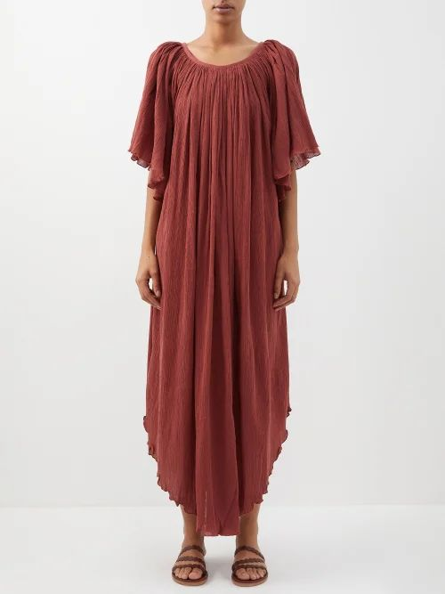 Katharine Hamnett London - Lola Belted Cotton Coat - Womens - Navy