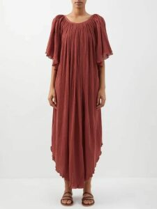 Katharine Hamnett London - Lola Belted Cotton Coat - Womens - Navy