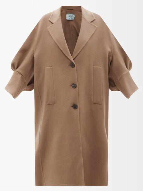 Toga - Gathered Crinkled Satin Skirt - Womens - Red