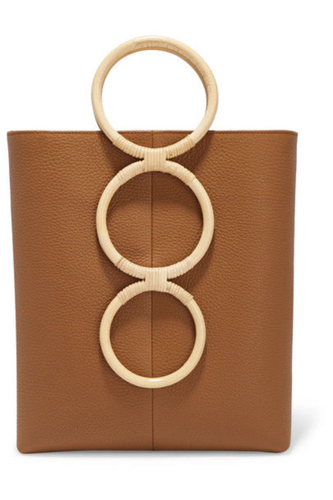 Carolina Santo Domingo - Petra Mini Textured-leather And Wicker Tote - Tan