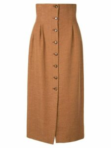 Muller Of Yoshiokubo Koutoubia pencil skirt - Brown
