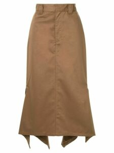 G.V.G.V. Handkerchief hem chino skirt - Brown