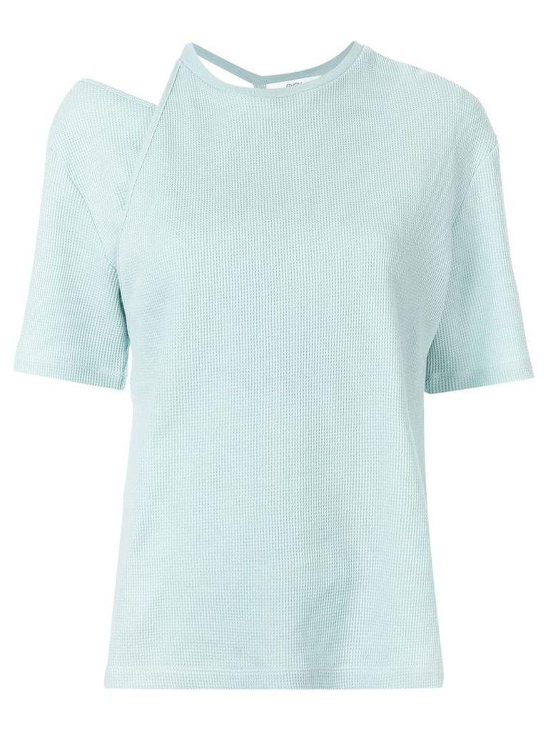 G.V.G.V. cut-out waffle T-shirt - Green