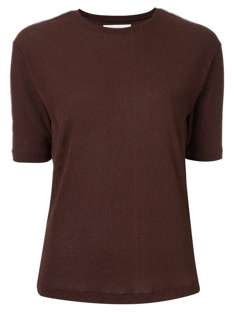 G.V.G.V. lined jersey top - Brown