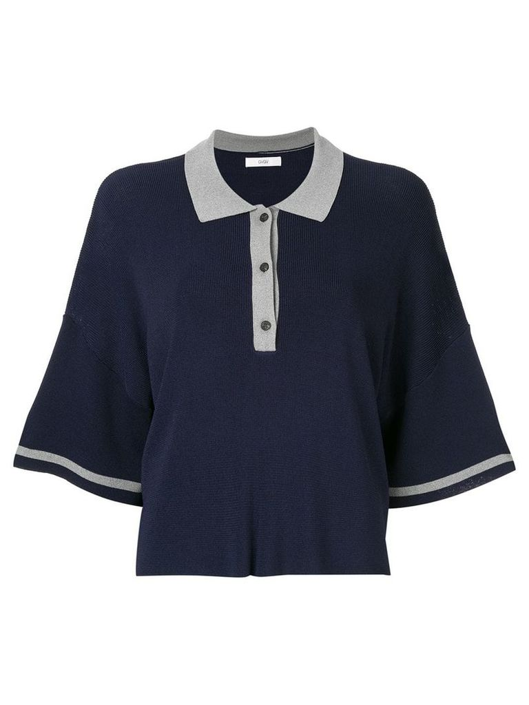 G.V.G.V. oversized polo sweater - Blue