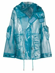 UNDERCOVER transparent raincoat - Blue