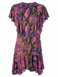 House of Holland snakeskin print shift dress - Pink
