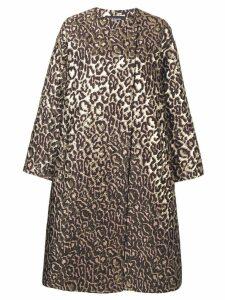 Rochas classic leopard print coat - Neutrals