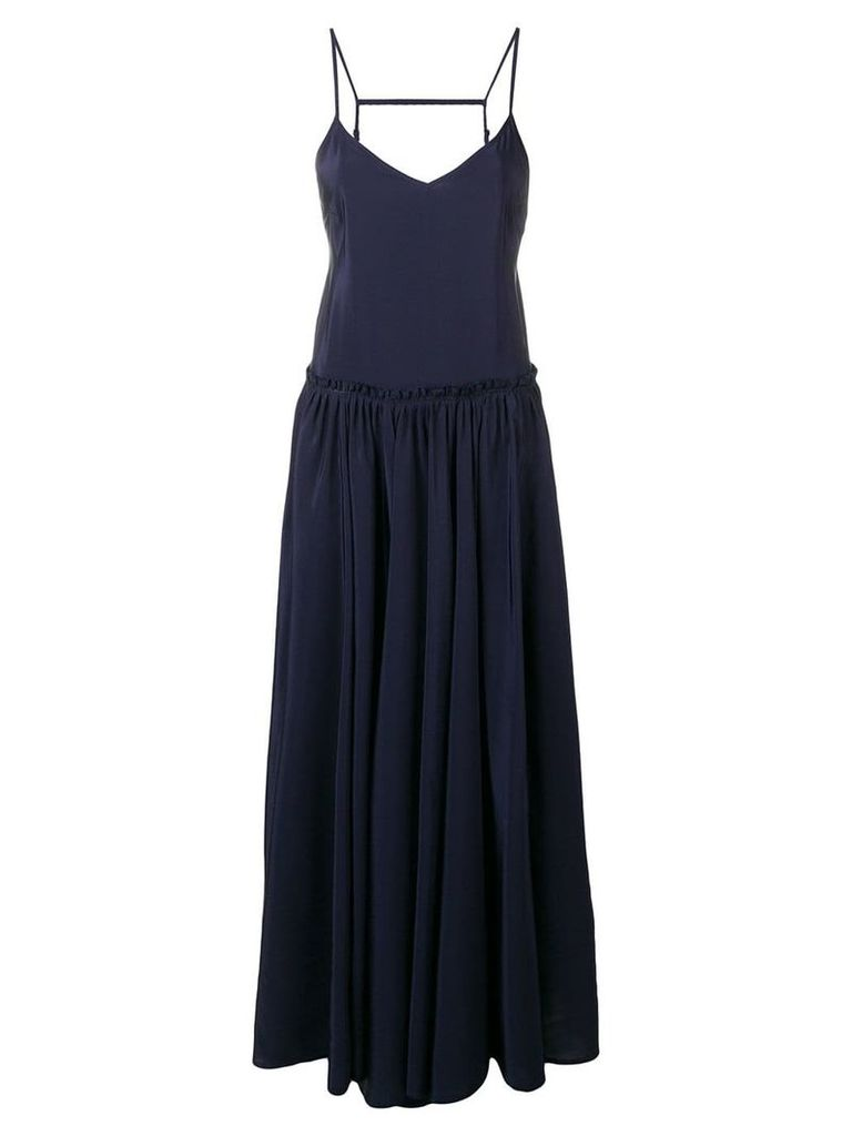 Zadig & Voltaire Fashion Show ruffle waist dress - Blue