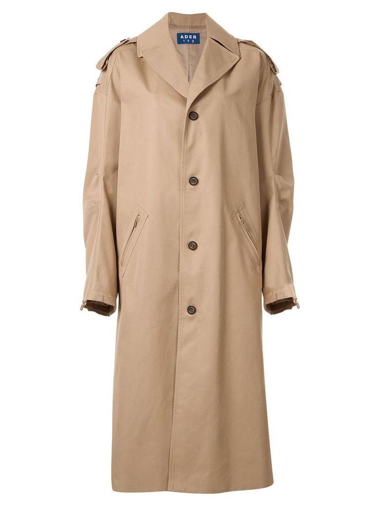 Ader Error maxi trench coat - Neutrals