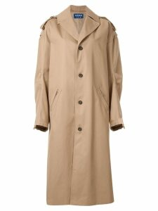 Ader Error maxi trench coat - Neutrals