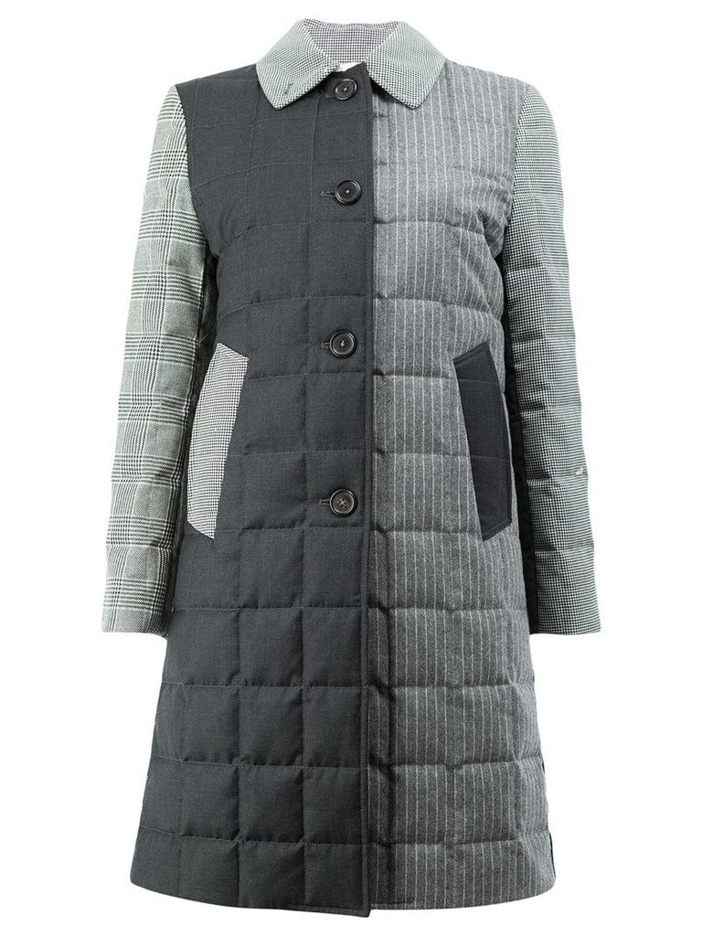Thom Browne Unconstructed Downfill Bal Collar Overcoat In Funmix