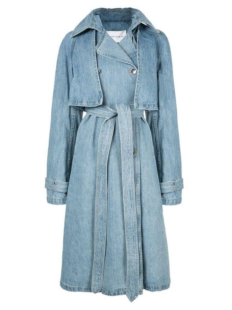Matthew Adams Dolan denim trench coat - Blue