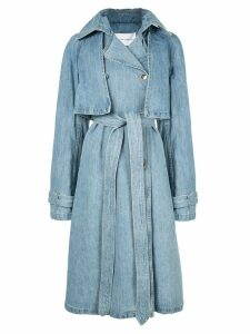 Matthew Adams Dolan denim trench coat - Blue
