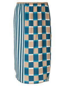 Seya. printed midi skirt - Multicolour