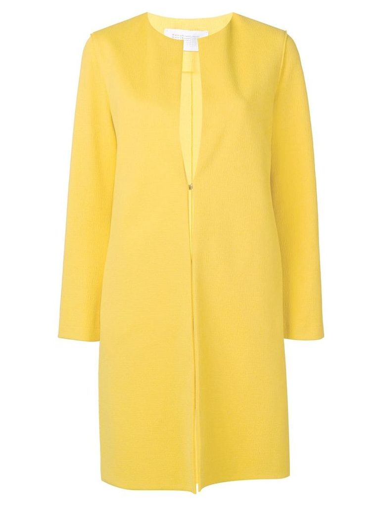 Harris Wharf London collarless coat - Yellow