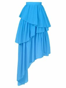 House of Holland frill asymmetric skirt - Blue