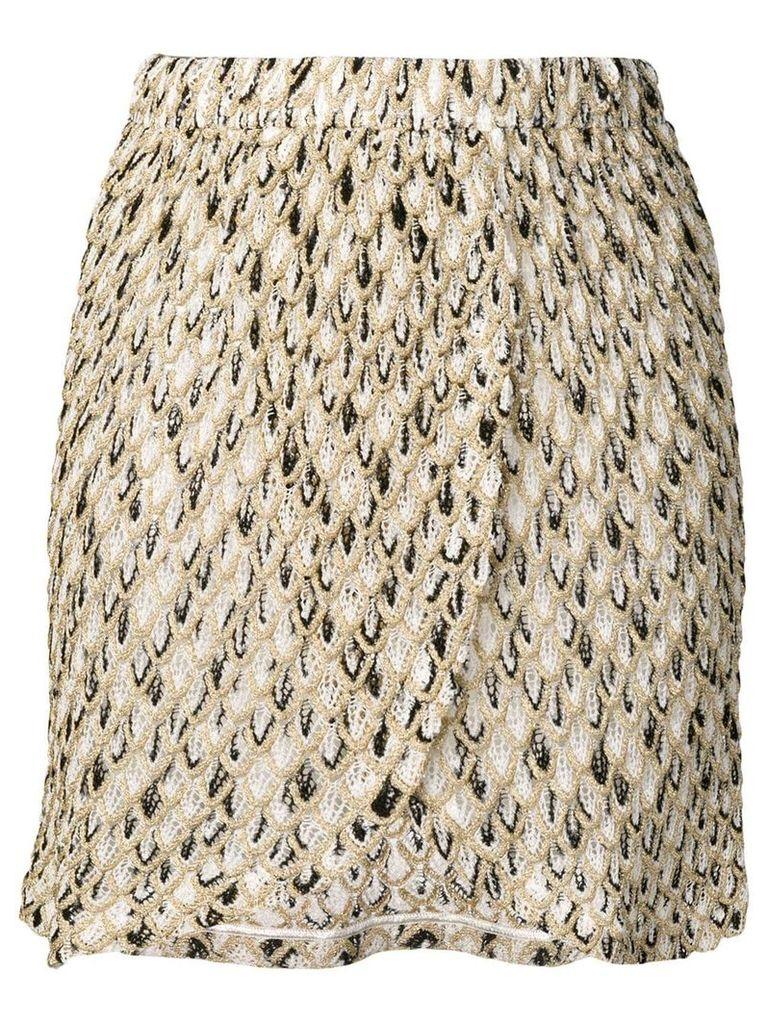 Missoni Mare embroidered pattern short skirt - Neutrals