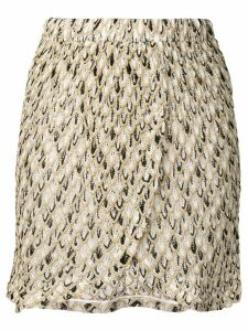 Missoni Mare embroidered pattern short skirt - Neutrals