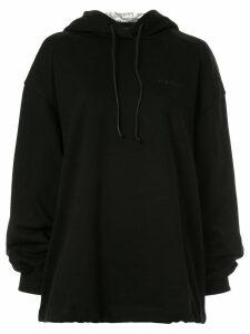 Juun.J embroidered logo hoodie - Black