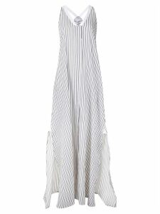 Rosetta Getty striped loose dress - White