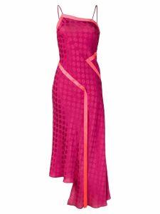 House of Holland polka-dot asymmetric dress - Pink