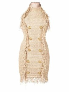 Balmain tweed mini dress - Gold
