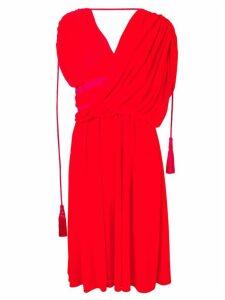 Lanvin asymmetric midi dress - Red