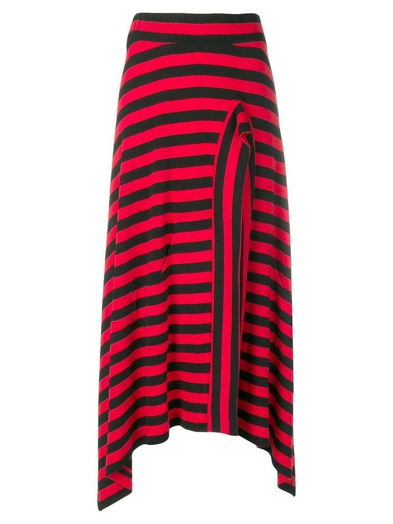 Sonia Rykiel striped midi skirt - Red
