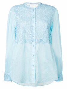 Ermanno Scervino lace panel blouse - Blue