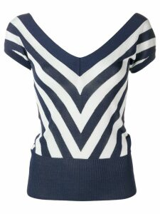 Temperley London chevron knitted top - Blue