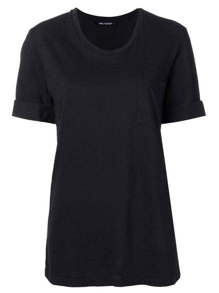 Neil Barrett turn up cuff T-shirt - Black