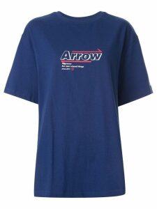 Ader Error Arrow print oversized T-shirt - Blue