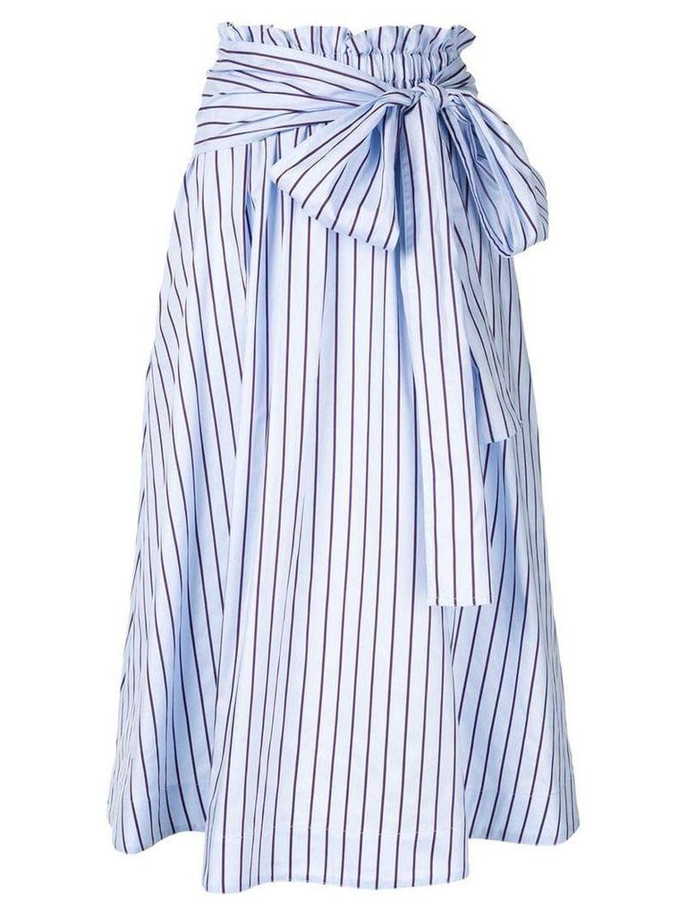 Rosetta Getty striped midi skirt - Blue
