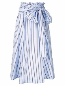 Rosetta Getty striped midi skirt - Blue