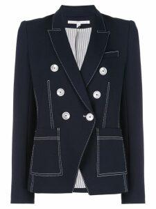 Veronica Beard contrast stitching blazer - Blue